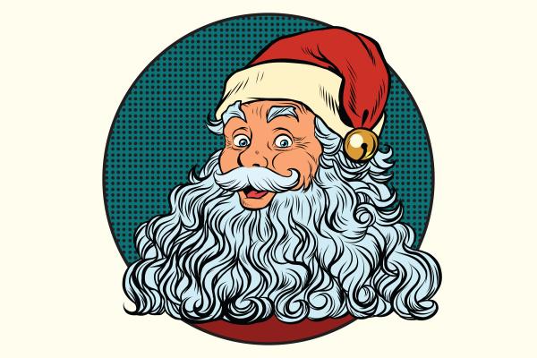 klassische weihnachtsmann mit weissem bart
