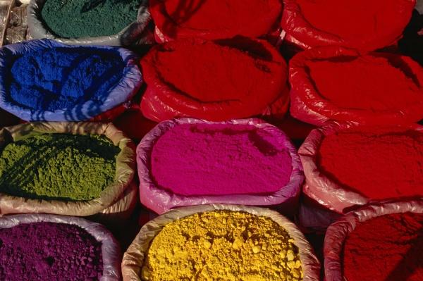 textilfaerbung kathmandu nepal asien