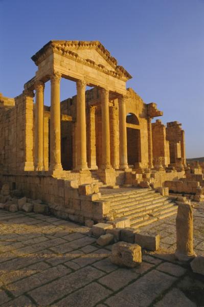 sbeitla roemische ruinen tunesien nordafrika