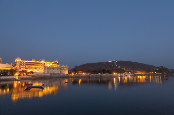 city palace in udaipur in der