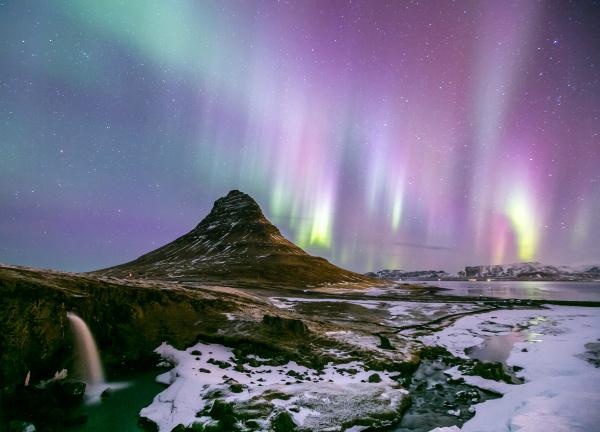 winter island aurora nordwind natur