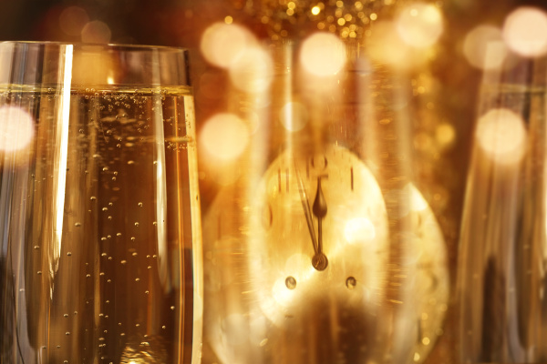 new year background with champagne