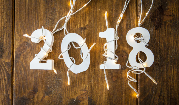2018 mit lichterkette