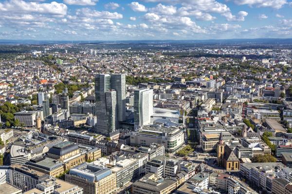 deutschland hessen frankfurt bankenviertel mit nextower