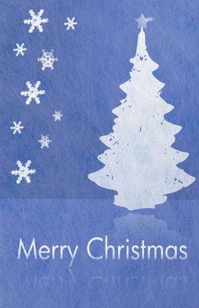 abstrakter weihnachtsbaum und schneeflocken und schriftzug