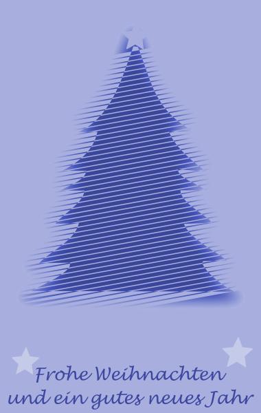 abstrakter weihnachtsbaum und schriftzug frohe weihnachten