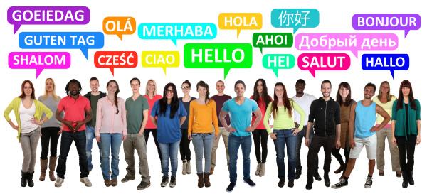 hallo guten tag multikulturell people menschen