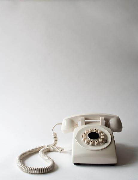 weiss telefon studioaufnahme