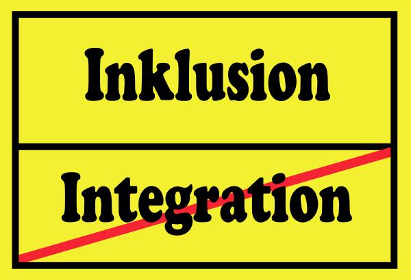 schild inklusion und integration