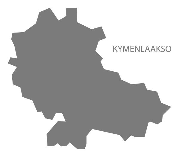 kymenlaakso finnland karte grau