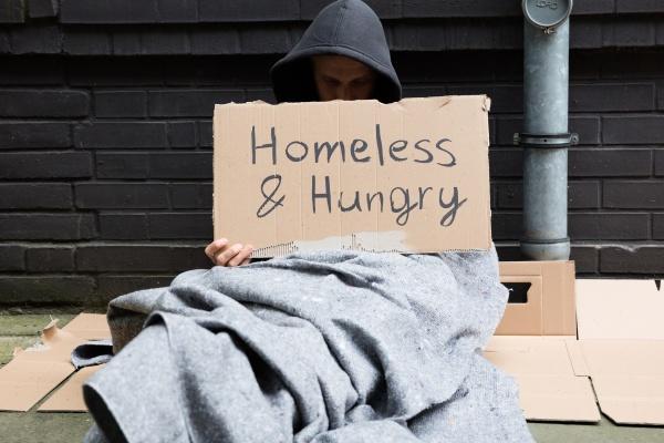 obdachlose und hungry man