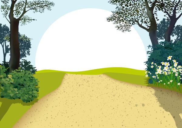 landschaft mit baeumen