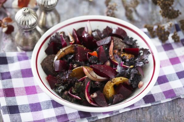 rote beete salat mit zwiebel