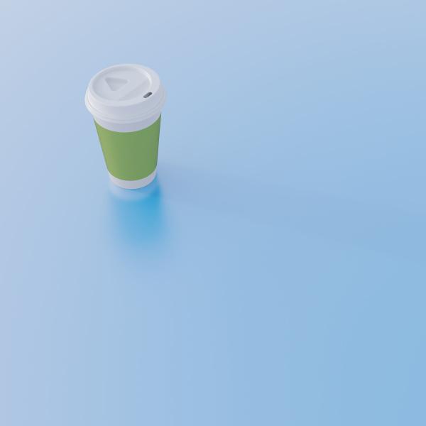 coffee, to, go, tasse, auf, hellblauem - 20543281