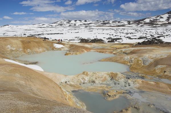 leirhnjukur thermalgebiet und eruptionsstelle in der