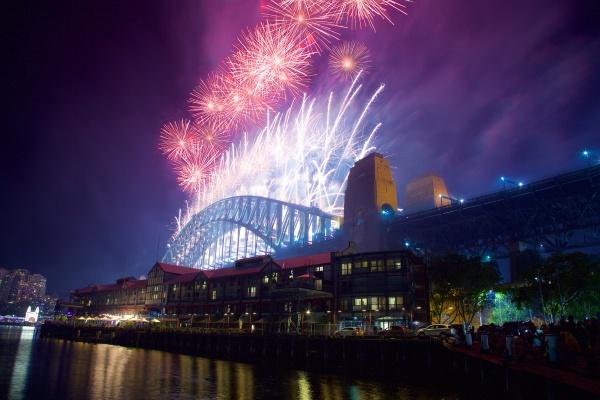 sydney harbour bridge silvester feuerwerk sydney
