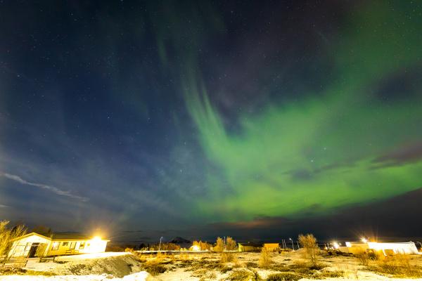 island aurora nordwind natur