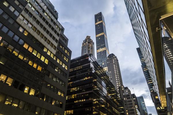 usa new york city wolkenkratzer in