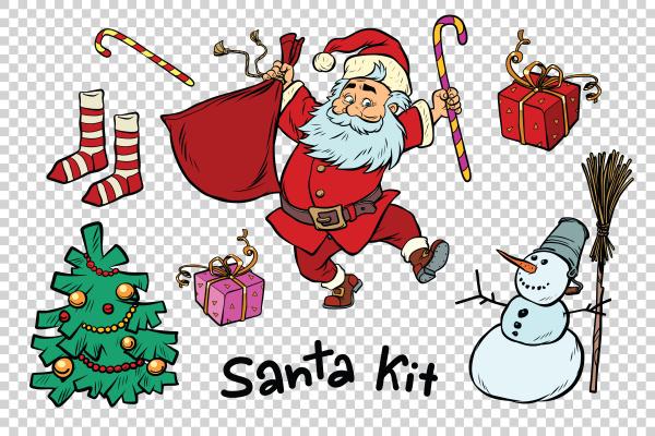 kit santa set weihnachten neujahr artikel