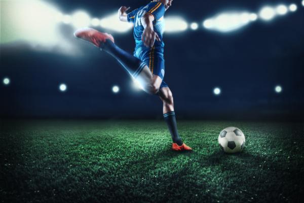 der aktive spieler des fussballs im