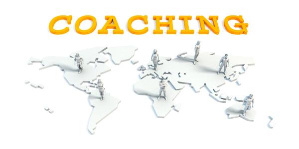 coaching konzept mit business team