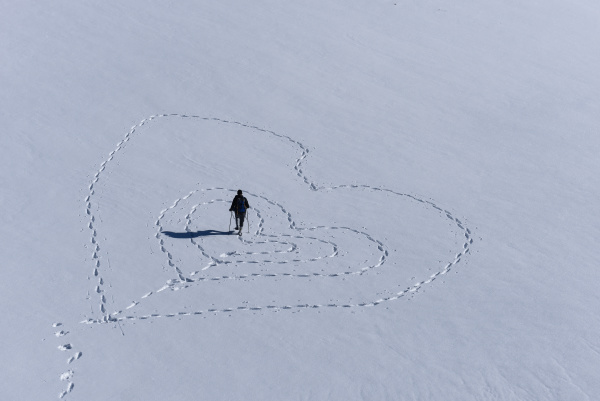 liebesbotschaft aus den verschneiten bergen