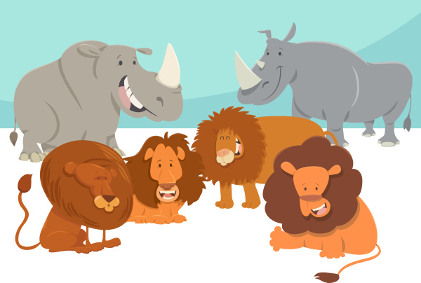 safari tierfiguren cartoon