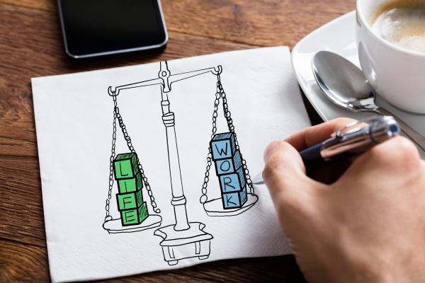 work life balance zeichnung