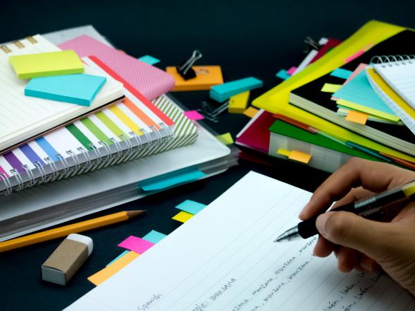 lernen, neue, sprache, schreiben, wörter, viele - 23030883