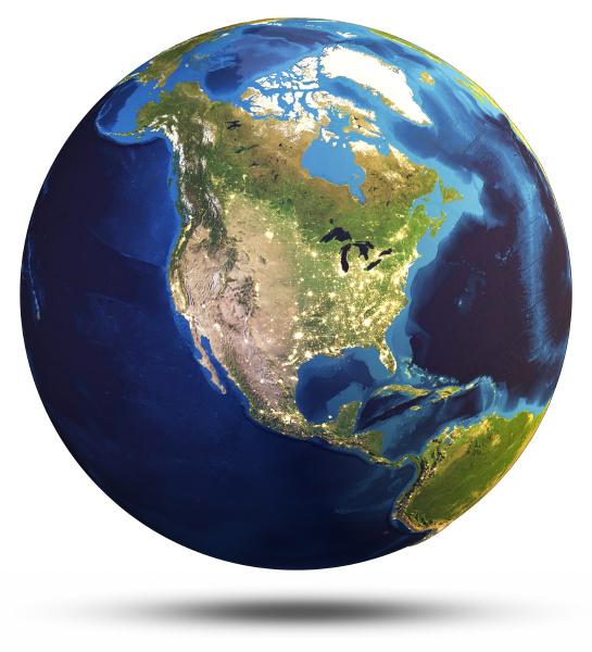 planet erde welt globus rendering