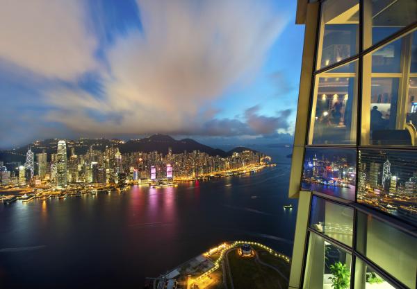 luftaufnahme des stadtbildes von hongkong mit