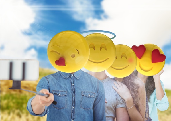 freunde emoji gesicht selfi