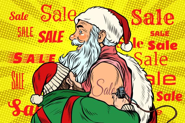 verkauf elfe macht weihnachtsmann tattoo