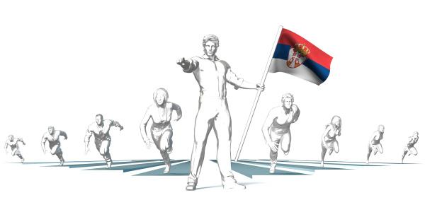 serbien rennt in die zukunft