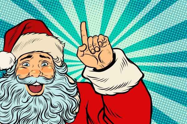 santa claus christmas charakter zeigt sich