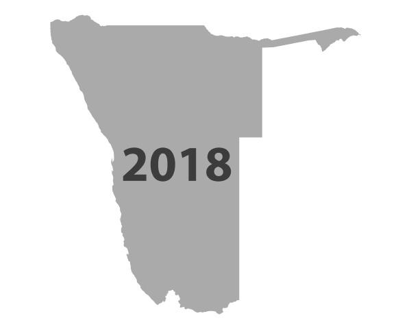 karte von namibia 2018