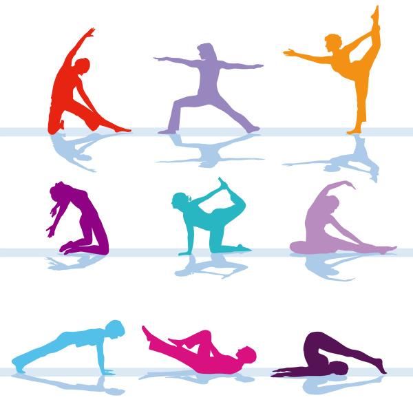 gymnastik fitness training illustration