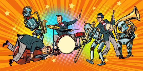 jazz rocknroll band von menschen und