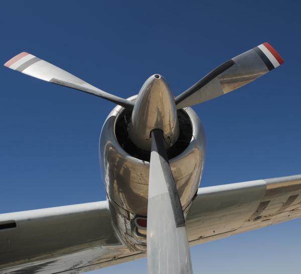 propeller von constellation flugzeug