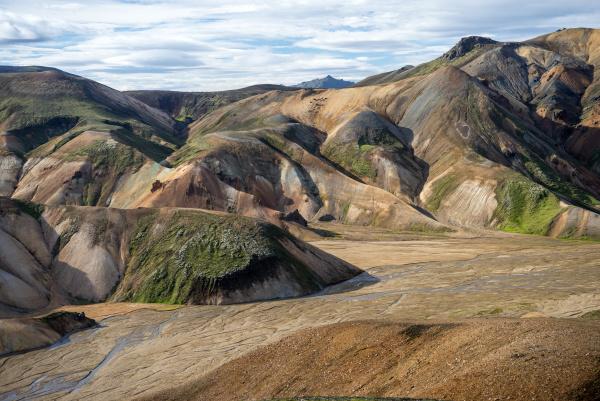 vulkanberge von landmannalaugar im fjallabak naturreservat