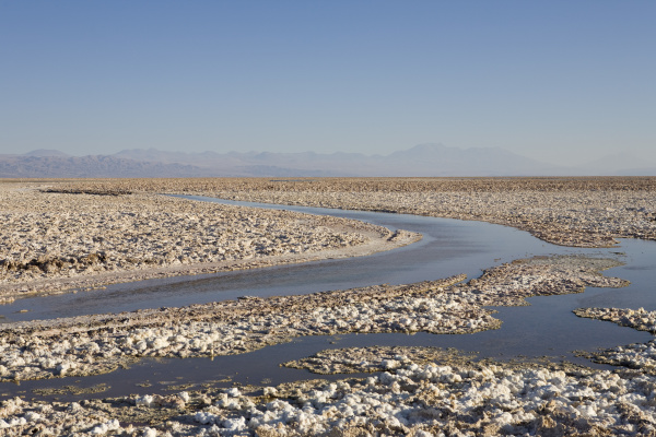 salzformationen bedecken den boden des reserva