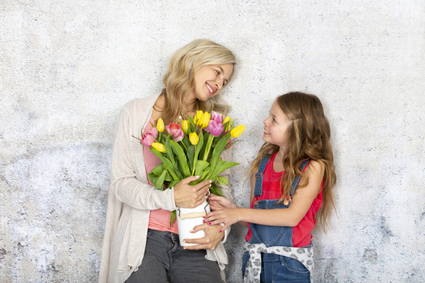 young and blond and pretty mother