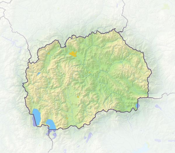 mazedonien schattierte reliefkarte europa