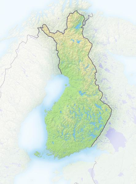 finnland schattierte reliefkarte europa