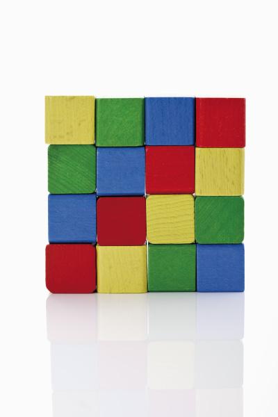 quadratische bauklotze mosaik gelb