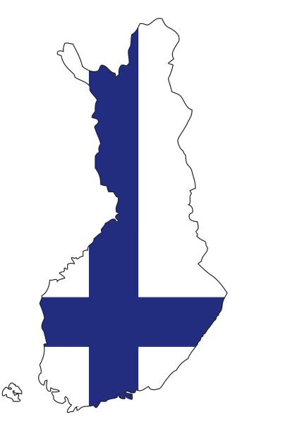 finnland flagge umriss