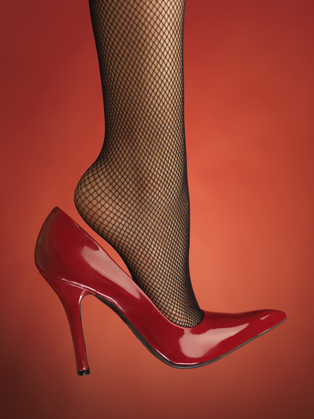 sexy roter stockelschuhe high heels