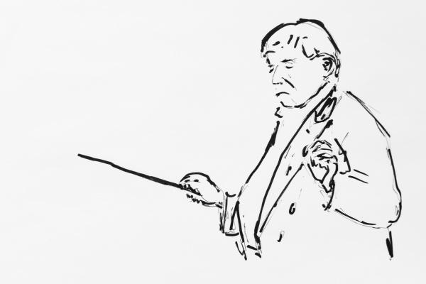 dirigent daniel bernstein dirigiert zeichnung