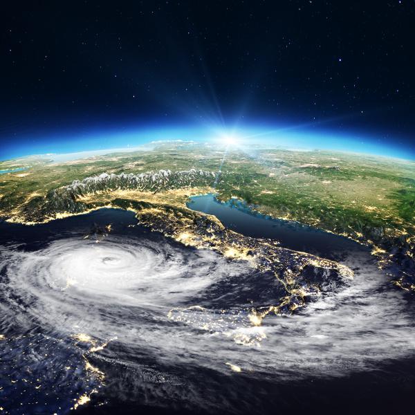 italien kartiert zyklon 3d rendering