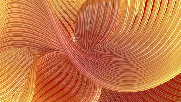 abstraktes wirbelnde wellen 3d rendering